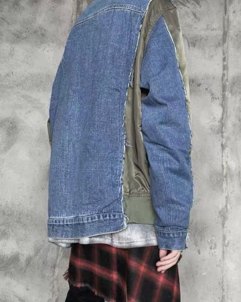 デニムベースMA-1ジャケットの画像4